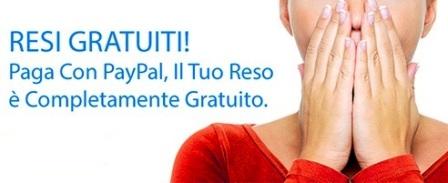 Paga con PayPal e il reso è gratuito