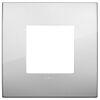 Arke - placca Classic Metal-Color in metallo 2 posti argento