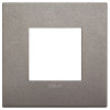 Arke - placca Classic Metal-Color in metallo 2 posti titanio matt