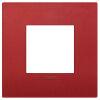 Arke - placca Classic Color-Tech in tecnopolimero 2 posti rosso matt