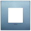 Arke - placca Classic Color-Tech in tecnopolimero 2 posti blu matt
