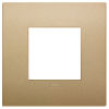 Arke - placca Classic Color-Tech in tecnopolimero 2 posti oro matt