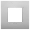 Arke - placca Classic Color-Tech in tecnopolimero 2 posti silver matt