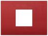 Arke - placca Classic Color-Tech in tecnopolimero 2 posti centrali rosso matt
