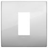 Arke - placca Classic Metal-Color in metallo 1 posto argento