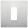 Arke - placca Classic Alu-Tech in metallo 1 posto naturale