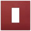 Arke - placca Classic Color-Tech in tecnopolimero 1 posto rosso matt