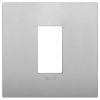 Arke - placca Classic Color-Tech in tecnopolimero 1 posto silver matt