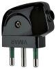 Vimar 00212 2P+E 10A S11 axial plug black