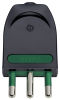 Vimar 00204 2P+E 10A S11 axial plug black