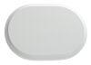 Oval - rosetta legno colore bianco