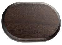 Oval - rosetta legno colore noce