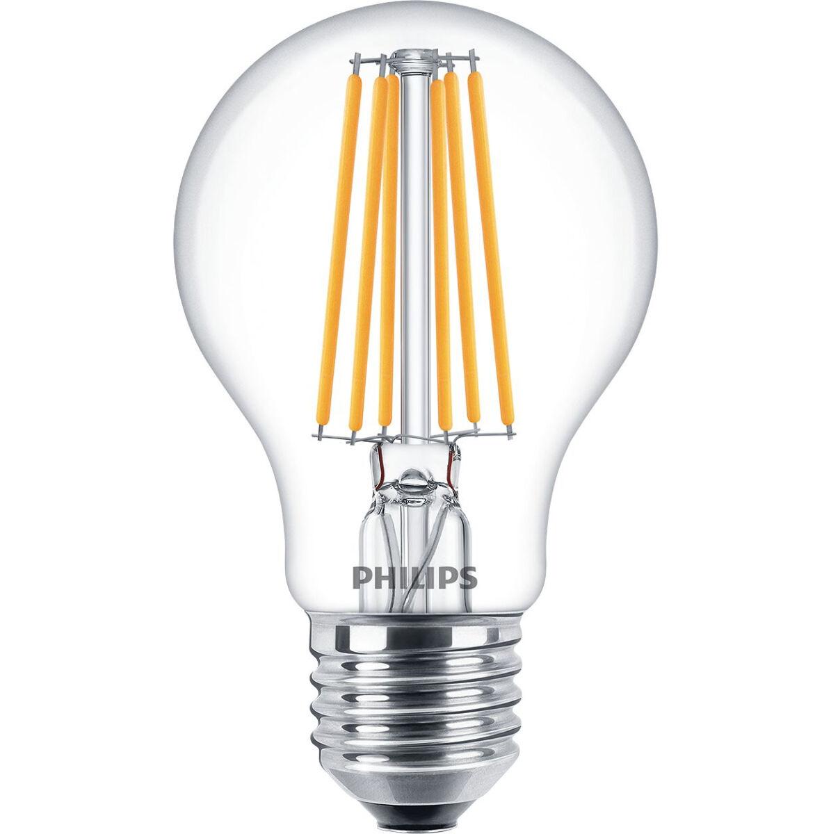 Philips philed75 lampada led goccia trasparente e27 08w for Lampade lunghe a led