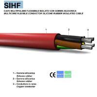 Cavo flessibile SIHF 2X0.75 isolato con gomma siliconica