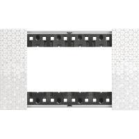 BTicino KA4804MW Living Now - placca 4 moduli pixel