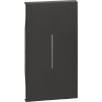 BTicino KG01M2 Living Now Nero - cover illuminabile 2 moduli