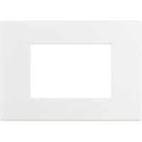 Axolute Air - placca rettangolare Bianco Opaco in metallo 3 posti bianco opaco personalizzabile