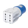 Adattatore spina IEC309 2P+T a presa 2 P11/P17 IEC 309 MA