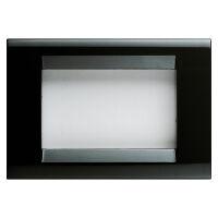 Playbus - placca in tecnopolimero 3 posti nero toner