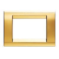 PLAYBUS 3 GANG ANTIQUE GOLD PLATE