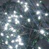 Minilucciole 100 led bianco a batteria con timer 10 mt