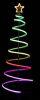 Albero spirale RGB con neon flex 180 cm