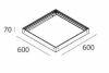 THE PANEL kit sospensione 600X600