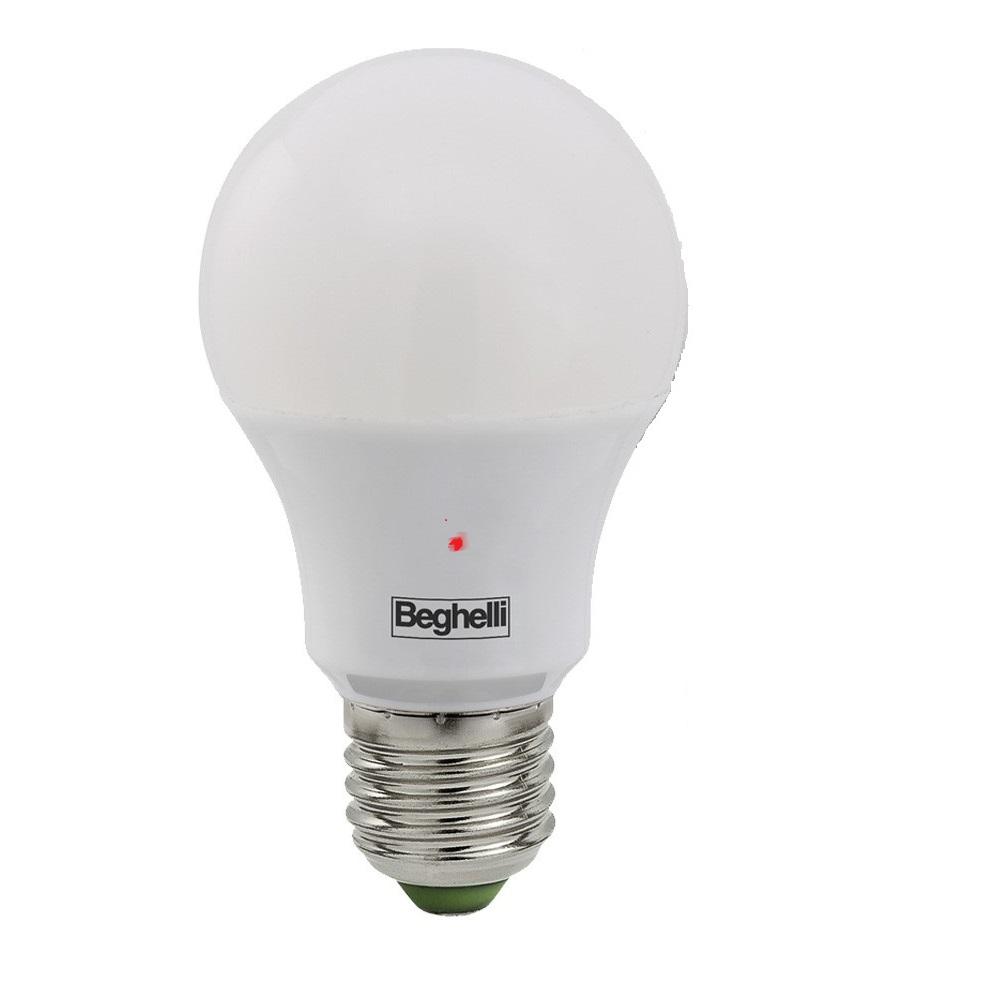 Beghelli 56158 Lampada Led Goccia E27 12w 230v 3000k Con Crepuscolare Sensor