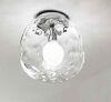 Plafoniera in cromo lucido vetro trasparente 6467