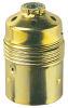 Portalampada E27 metallo mezzo filettato zincato giallo