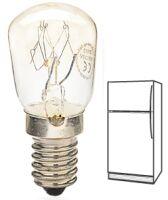 Lampada incandescenza tubolare trasparente E14 15W 230V per frigoriferi