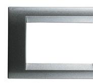 Playbus - placca in tecnopolimero 6 posti titanio metallizzato
