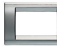 Playbus - placca in tecnopolimero 6 posti cromo soft