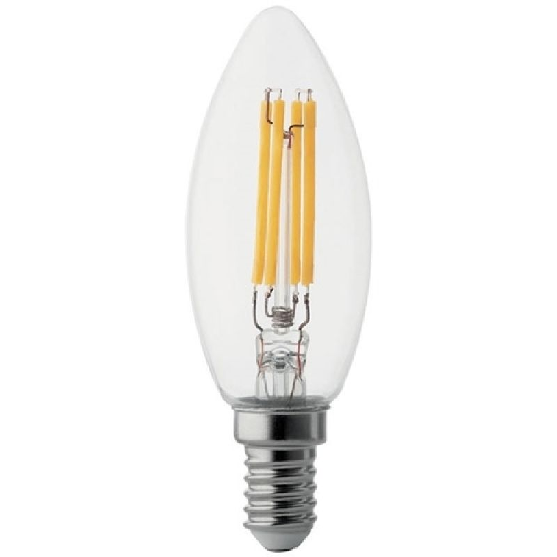 Lampada led oliva trasparente e14 04w 230v 4000k wireled for Lampada led e14