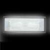 Applique FRAME E14 X2 in vetro satinato