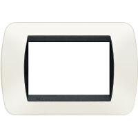 Living International - placca in tecnopolimero 3 posti bianco