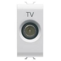 TOMA TV 1M DIRECTA CON. MACHO 9,5mm BL.