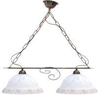 Lampadario 2 luci ALBA con campana in vetro ø 30