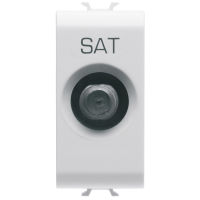 TV/SAT SOCKET 1M DIRECT F.CONN F WHITE