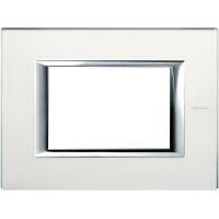 Bticino ha4803vsa axolute placca rettangolare vetri in vetro 3 posti colore specchio acidato - Specchio prisma riflessi prezzo ...