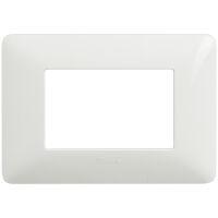 Matix - placca Bianchi in tecnopolimero 3 posti colore bianco