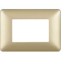 Matix - placca Metallics in tecnopolimero 3 posti colore gold