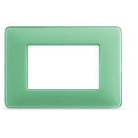 Matix - placca Colors in tecnopolimero 3 posti colore te verde
