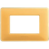 Matix - placca Colors in tecnopolimero 3 posti colore ambra