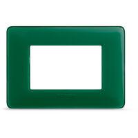 Matix - placca Colors in tecnopolimero 3 posti colore smeraldo