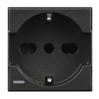 socket 2P+E 10/16A dark