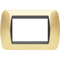 Living International - placca Lucenti in metallo 3 posti oro