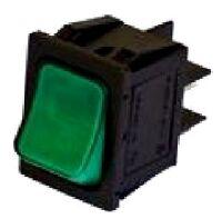 Interruttore bipolare luminoso verde per elettrodomestici