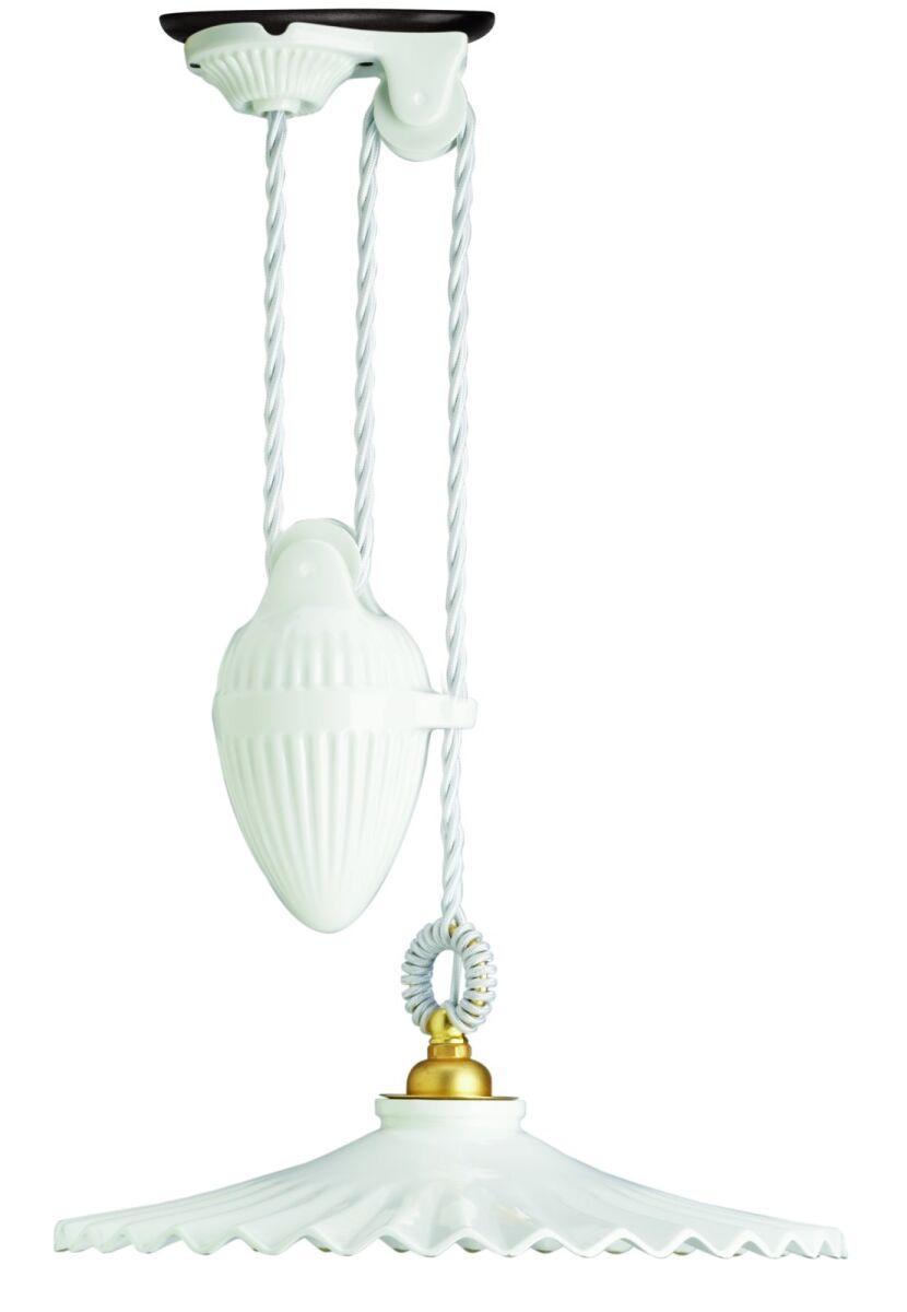 Gi gambarelli 4101 lampadario soffitto saliscendi for Lampadario ventaglio