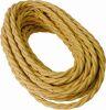 Cavo a treccia in cotone oro 3G1.50 - 50mt